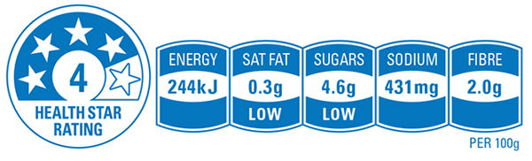 Australia's Health Star Rating System can be used to help you decide how healthy a food is when compared to other brands